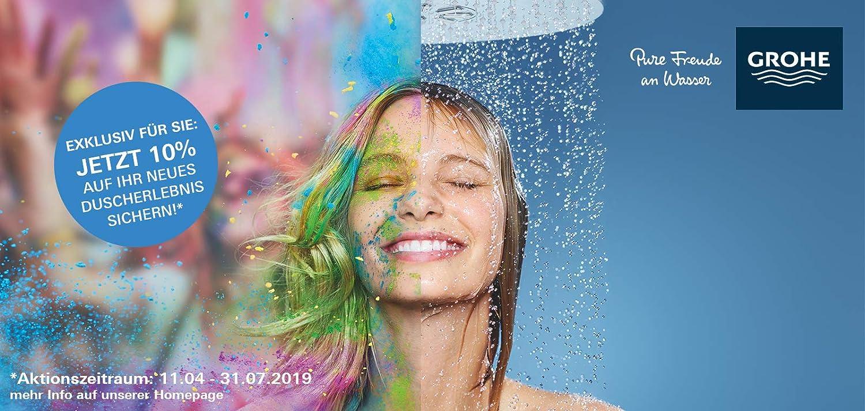 Chrome Import Allemagne GROHE Colonne de Douche avec mitigeur thermostatique Euphoria Systems 26418000