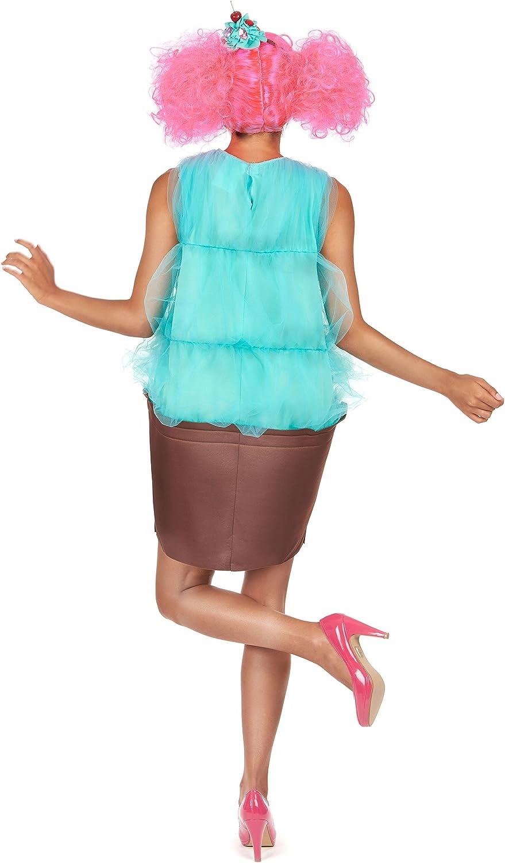 Vegaoo - Disfraz Cupcake Turquesa Mujer - Talla única: Amazon.es ...
