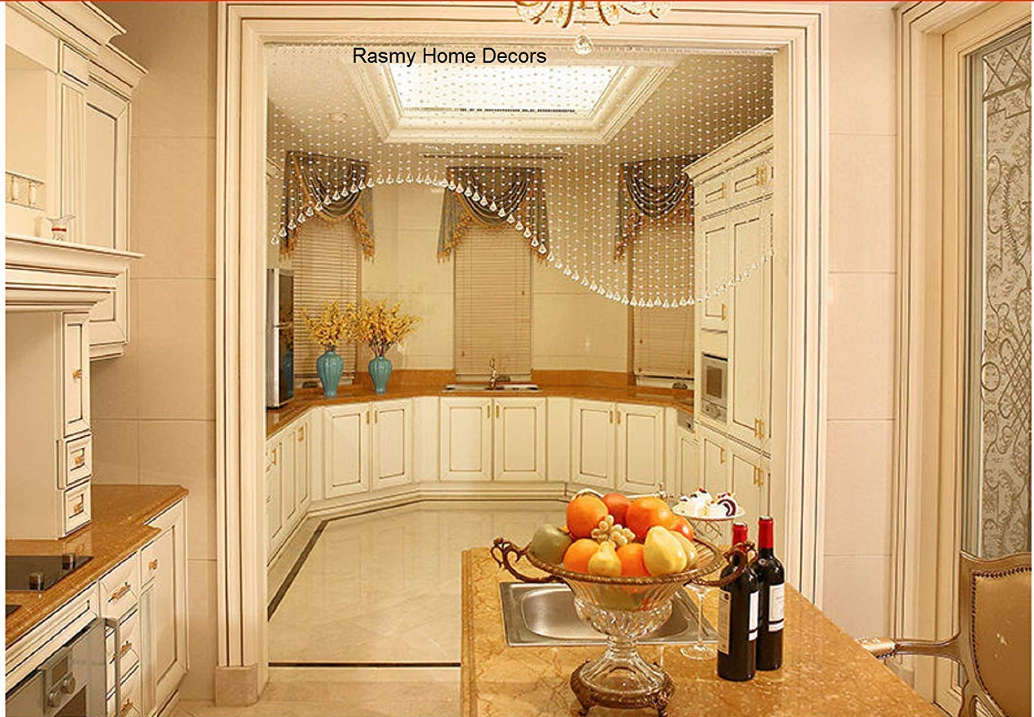 Buy Rasmy Home Decors Arch Partition Open Kitchen Decoration Glass Beads Curtain 50 String Online At Low Prices In India Amazon In