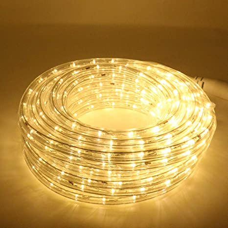 separation shoes 8a013 60166 KXY UL Certified Connectable Rope Tube Light Indoor Outdoor Party Holiday  Light Warm White (50Feet/15M)