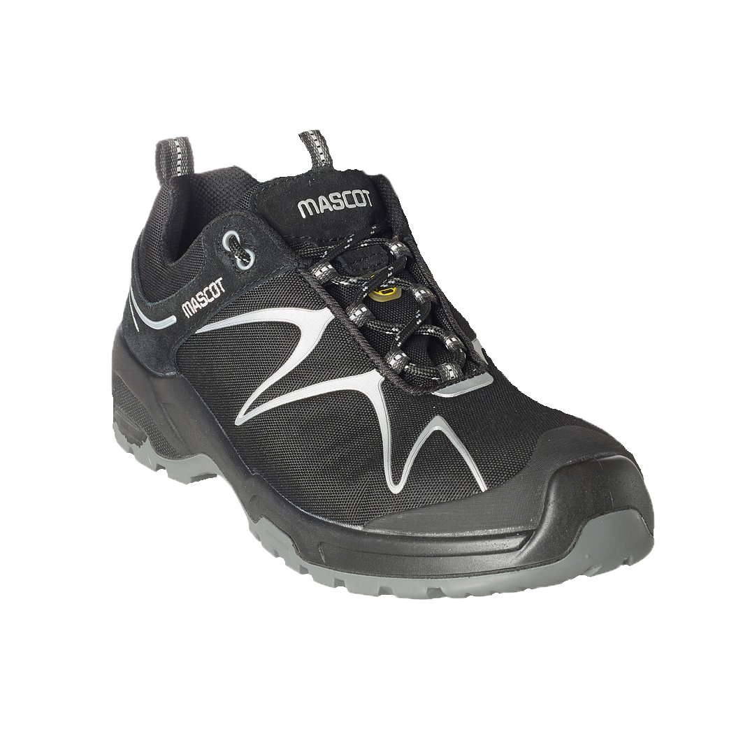 Mascot F0121-770-09880-1040 Protective Safety Shoes, Black/Silver, 40