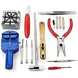 TRIXES Kit di riparazione orologi - utensili per la regolazione del cinturino e rimozione/chiusura della cassa