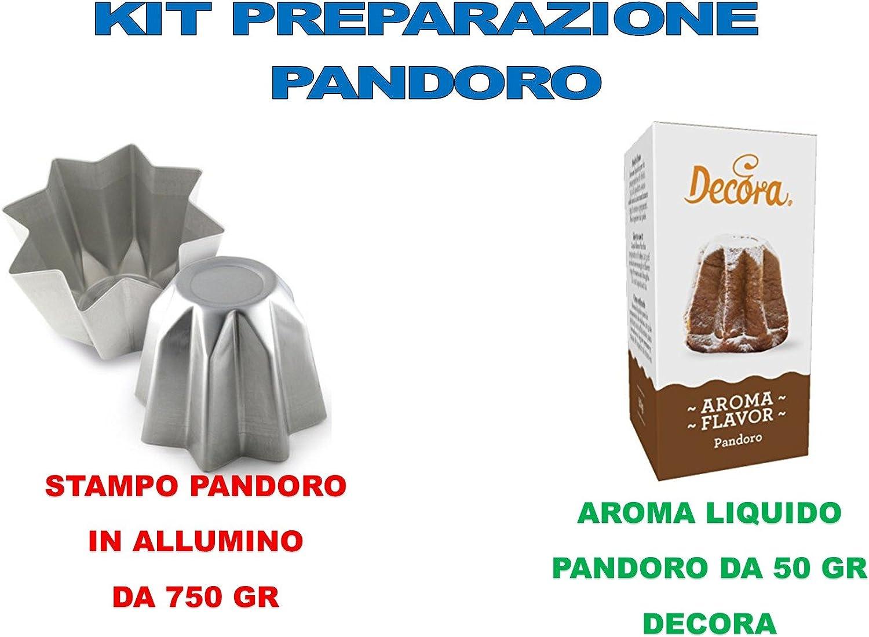 1/moule de 1/kg, 1 ar/ôme Pandoro CDC Kit de pr/éparation n/° 6 Pandoro artisanal de No/ël/