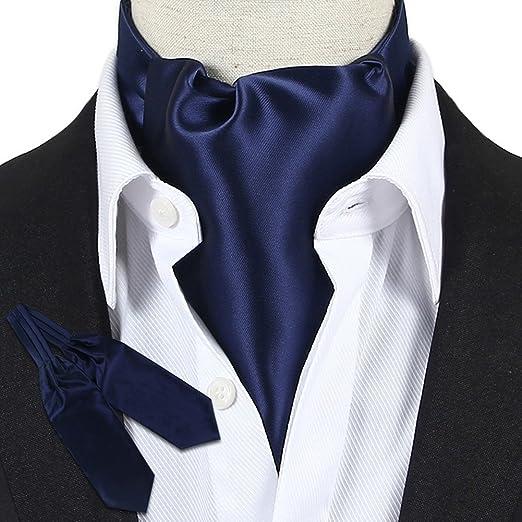 LIXIONG Color sólido de los Hombres Corbata Bufanda Camisa Toalla ...