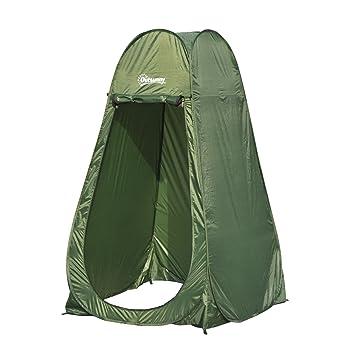 Outsunny Tienda de Campaña Instantánea Tipo Carpa Ducha Cambiador WC Impermeable para Camping - 100x100x185cm: Amazon.es: Jardín