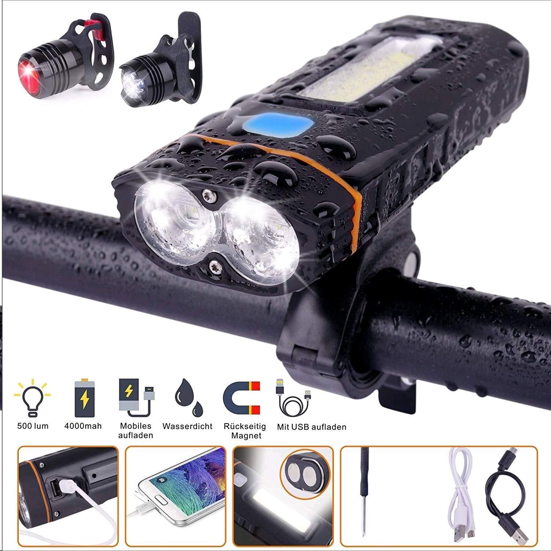Fahrradzubehör 5 Helligkeitsstufen LED USB Fahrradbeleuchtung Fahrradlampe Warnung Rücklicht