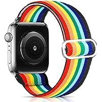 Pulseiras elásticas ajustáveis compatíveis com pulseiras Apple Watch de 38 mm, 40 mm, 42 mm, 44 mm, pulseira elástica…
