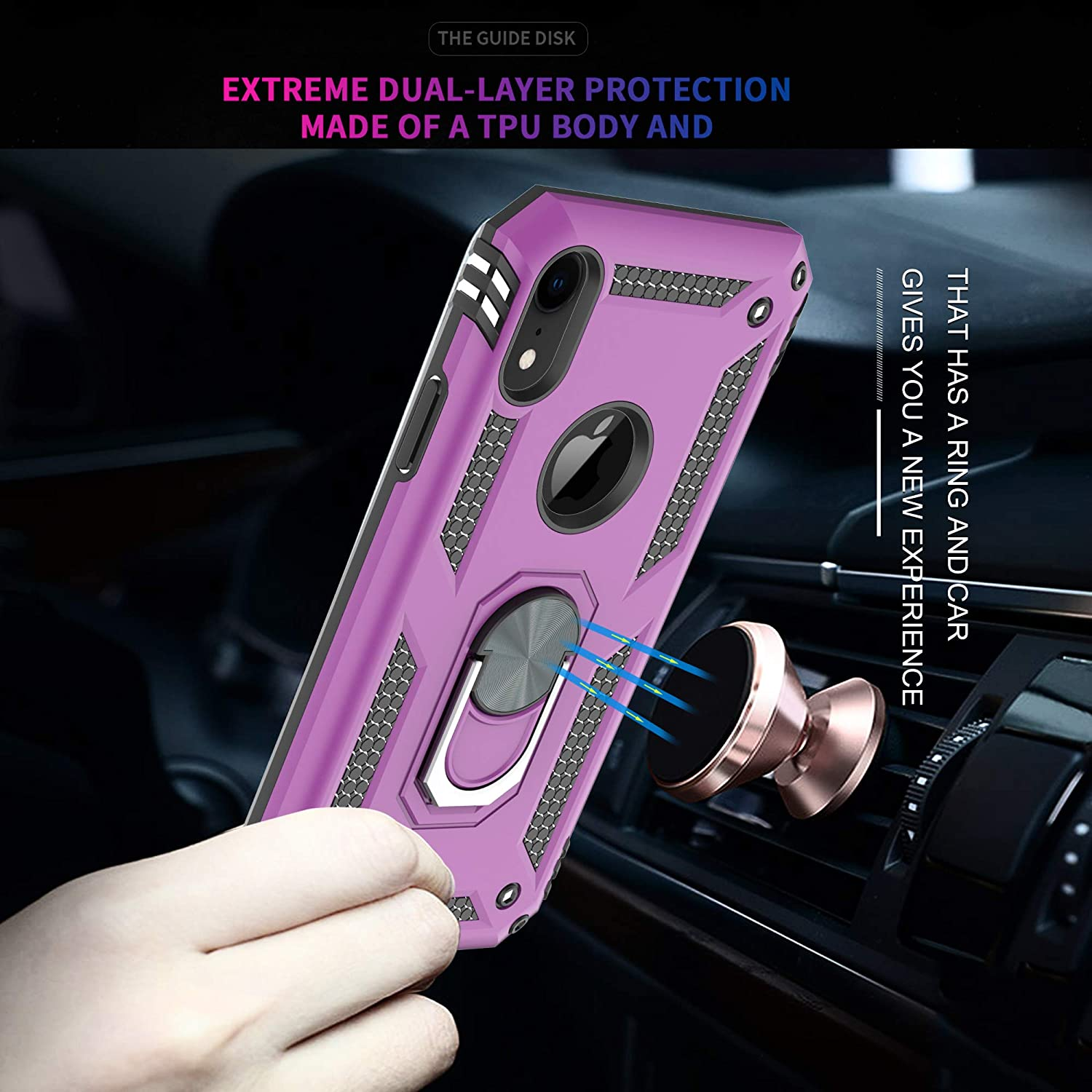 ,360 Degree Rotating Ring Double Layer Shockproof Case for for for iPhone 5-JH Dark Green 2 Pack YmhxcY iPhone SE Case iPhone 5 Case with Tempered Glass Screen Protector 2016 ,iPhone 5S Case