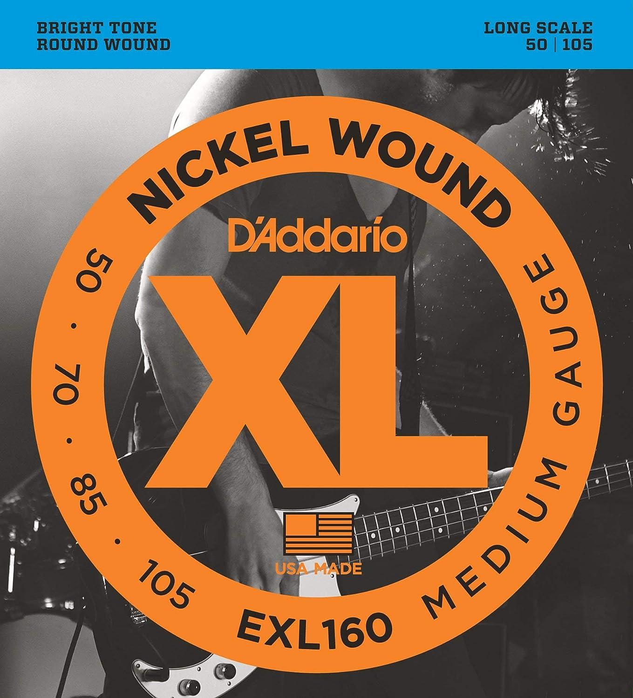 DAddario EXL160 Bass Guitar Strings 50-105 medium gauge long scale