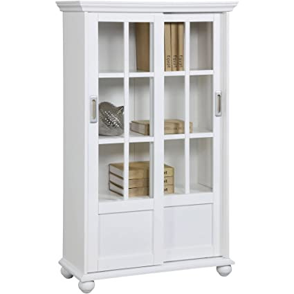 Amazon.com: Exceptional Design Bookcase with Sliding Gl Doors ... on