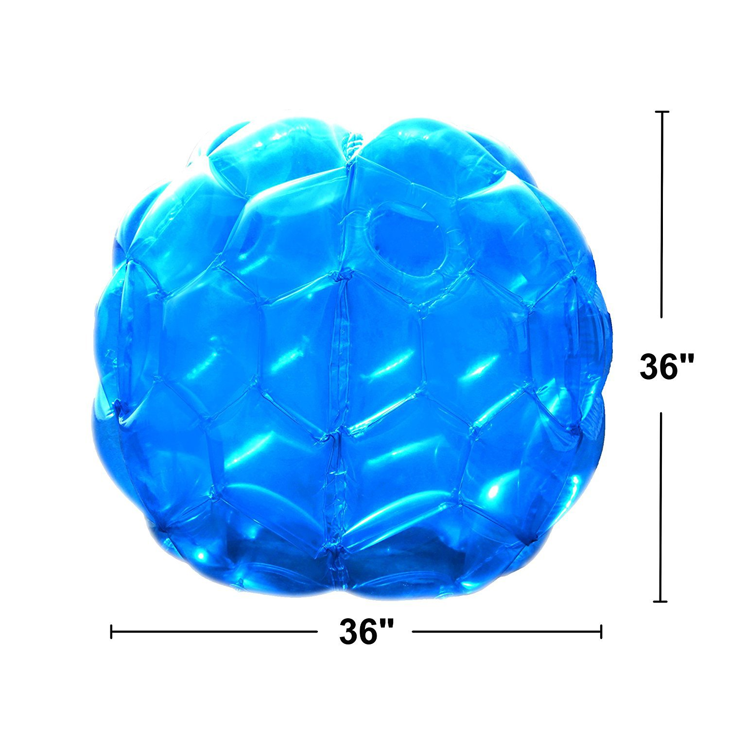 Inflatable 36'' Wearable Buddy Bumper Zorb Balls Heavy Duty Durable PVC Viny Bubble Soccer Outdoor Game (2-Pack,Blue&Red)) ... by Holleyweb (Image #9)