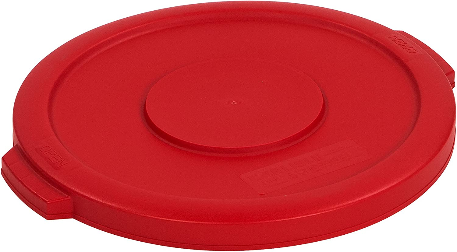 Carlisle 34101105 Bronco Round Waste Bin Food Container Lid, 10 Gallon, Red