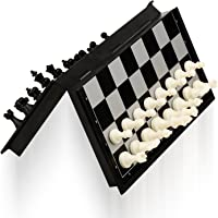 Akrobo Magnetic Travel Chess Set with Folding Board Educational Toys for Kids and Adults (Pocket Size)