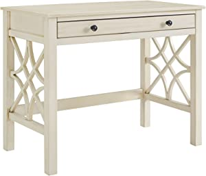 Linon Desk, Antique White