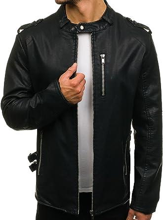 BOLF Jacke aus Kunstleder