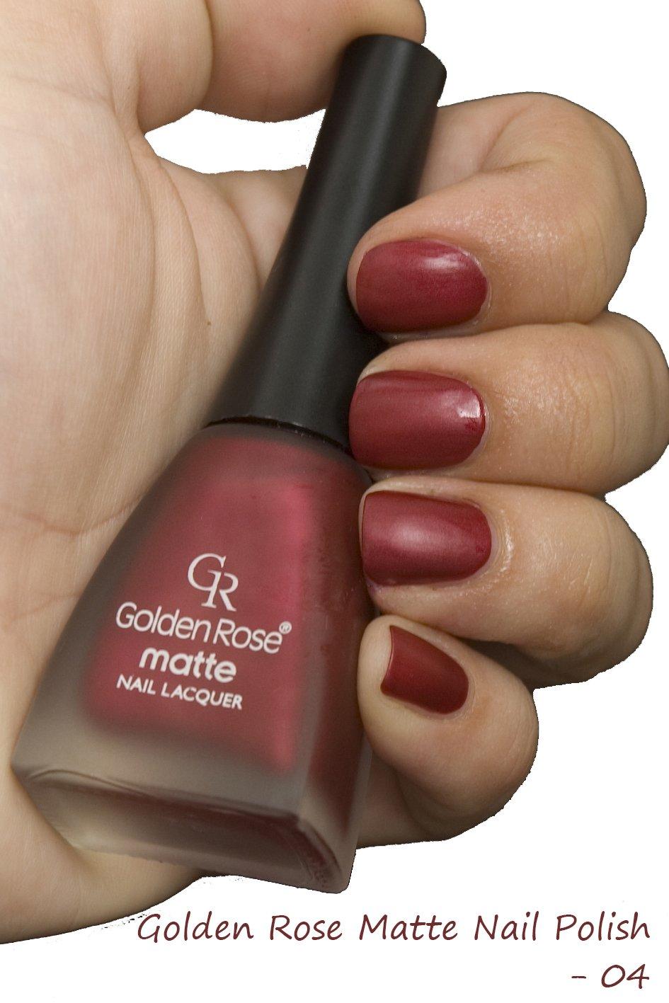 Amazon.com : Golden Rose Matte Nail Polish - 04 Jazzberry Jam : Beauty