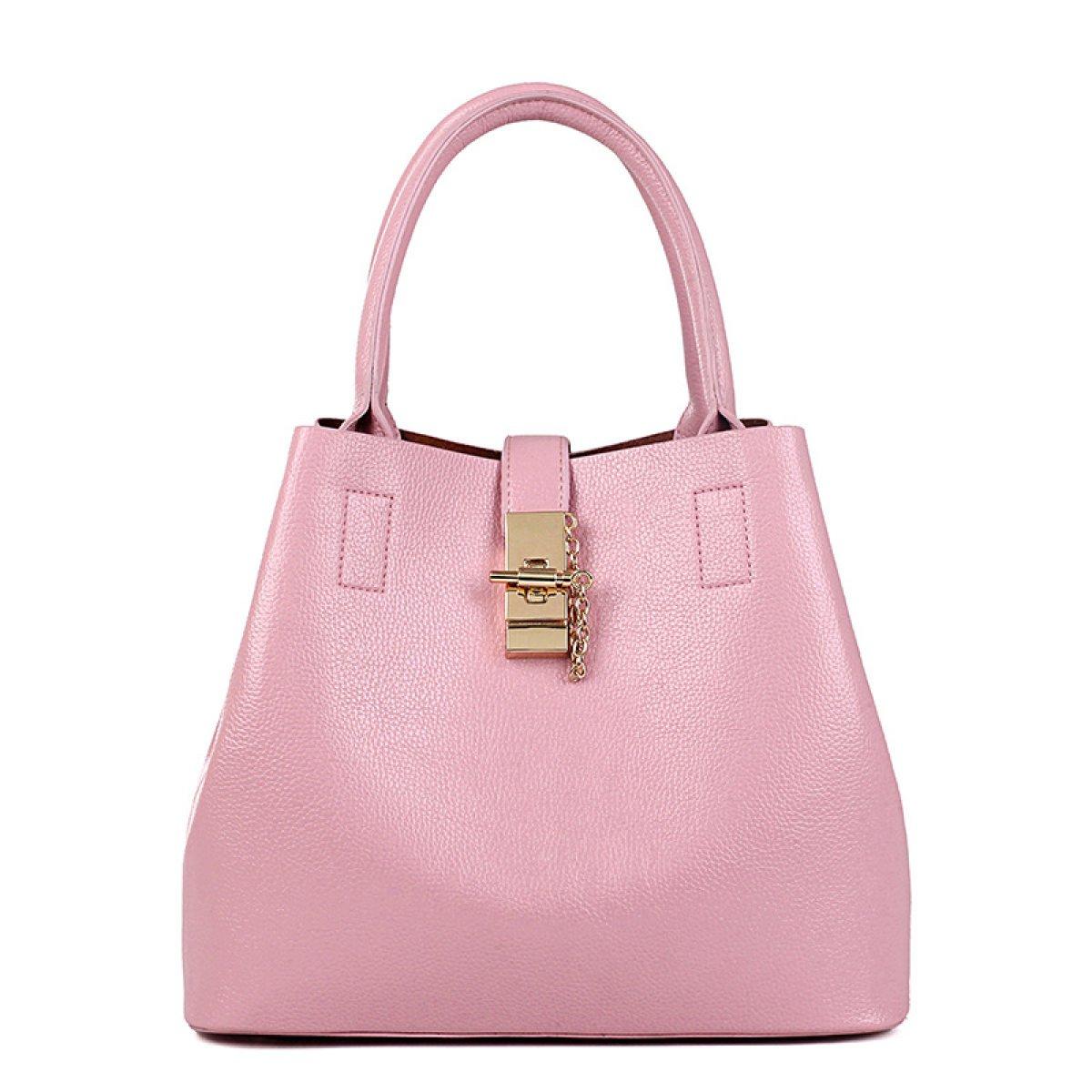 Dame Eimer Tasche Mode Trend Schulter Messenger Handtasche Wölbung Offene Tasche,Black-OneSize CHENGXIAOXUAN