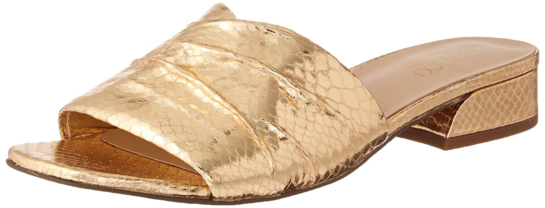 Franco Sarto Women's Frisco Slide Sandal B0771X493G 5 B(M) US|Warm Gold