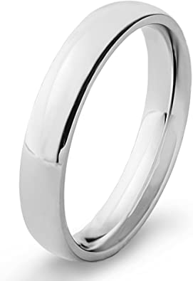 Silverline Jewelry 4mm Stainless Steel Comfort Fit Classic Wedding Band Ring Available in Sizes 5-14