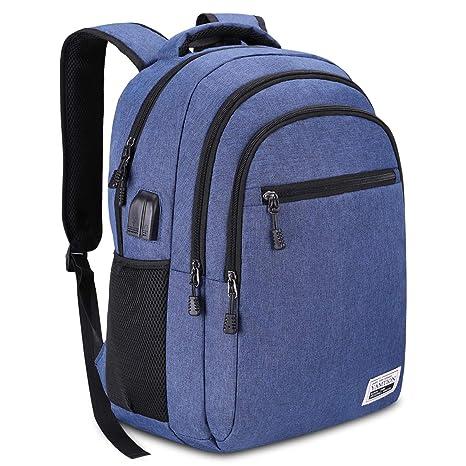 fa31c672487d70 YAMTION Zaino Laptop Portatile da 15.6 Pollici Zaino per PC con Porta USB  per Uomo e