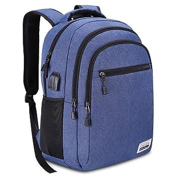e2da5d2cecda2 YAMTION Laptop Rucksack Jungen Rucksack Wasserdicht Große Kapazität Rucksack  Daypack mit 15.6 Zoll Laptopfach und Kopfhöreranschluss