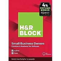 H&R Block Tax Software Premium & Business 2019 PC w/4% Refund