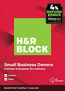 H&R Block Tax Software Premium & Business 2019 with 4% Refund Bonus Offer [Amazon Exclusive] [PC Download]