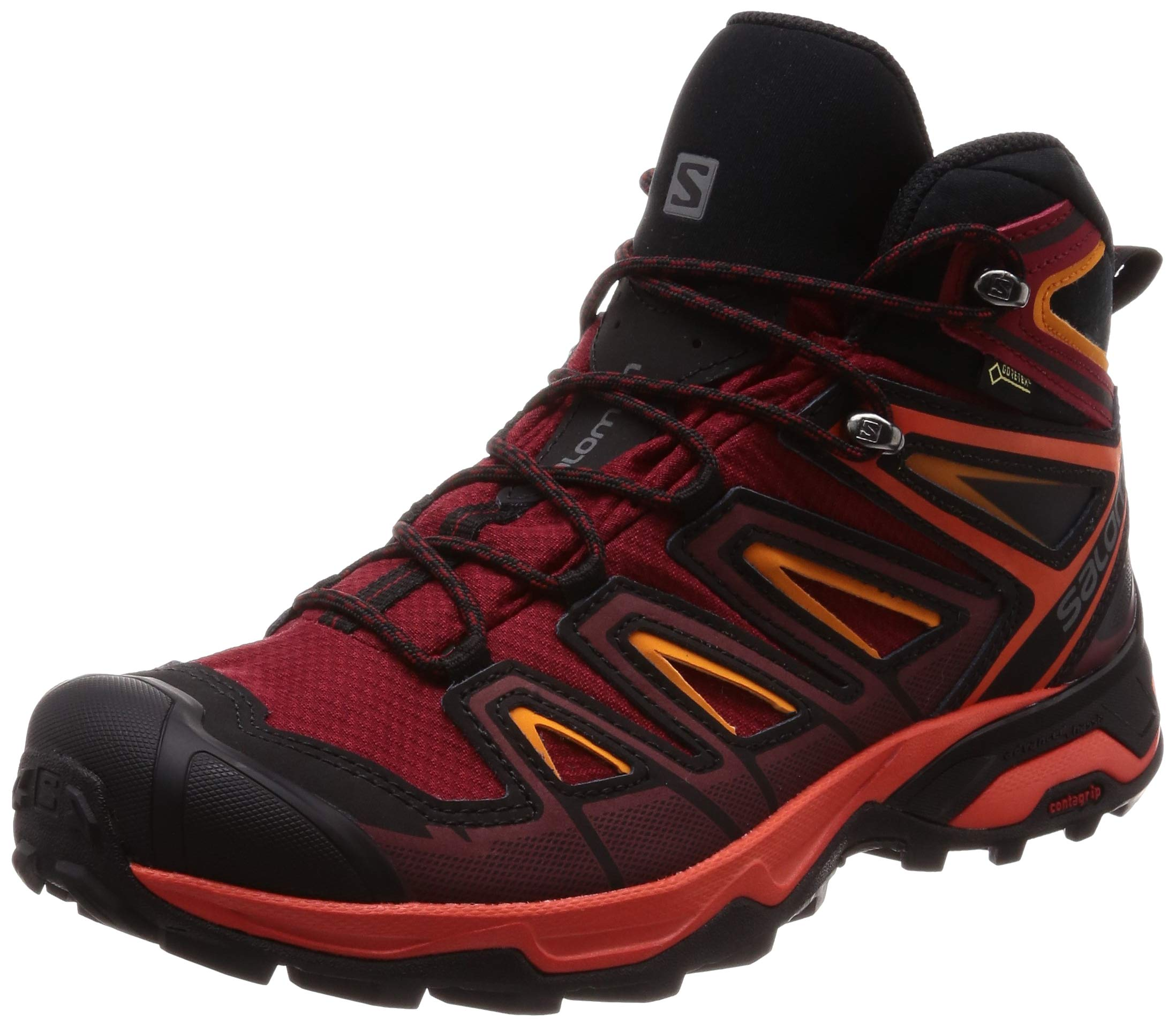 sale retailer c1fdd 19303 Salomon X Ultra 3 Mid GTX Hiking Boot - Men's Red Dahlia/Cherry  Tomato/Tangelo, US 7.0/UK 6.5