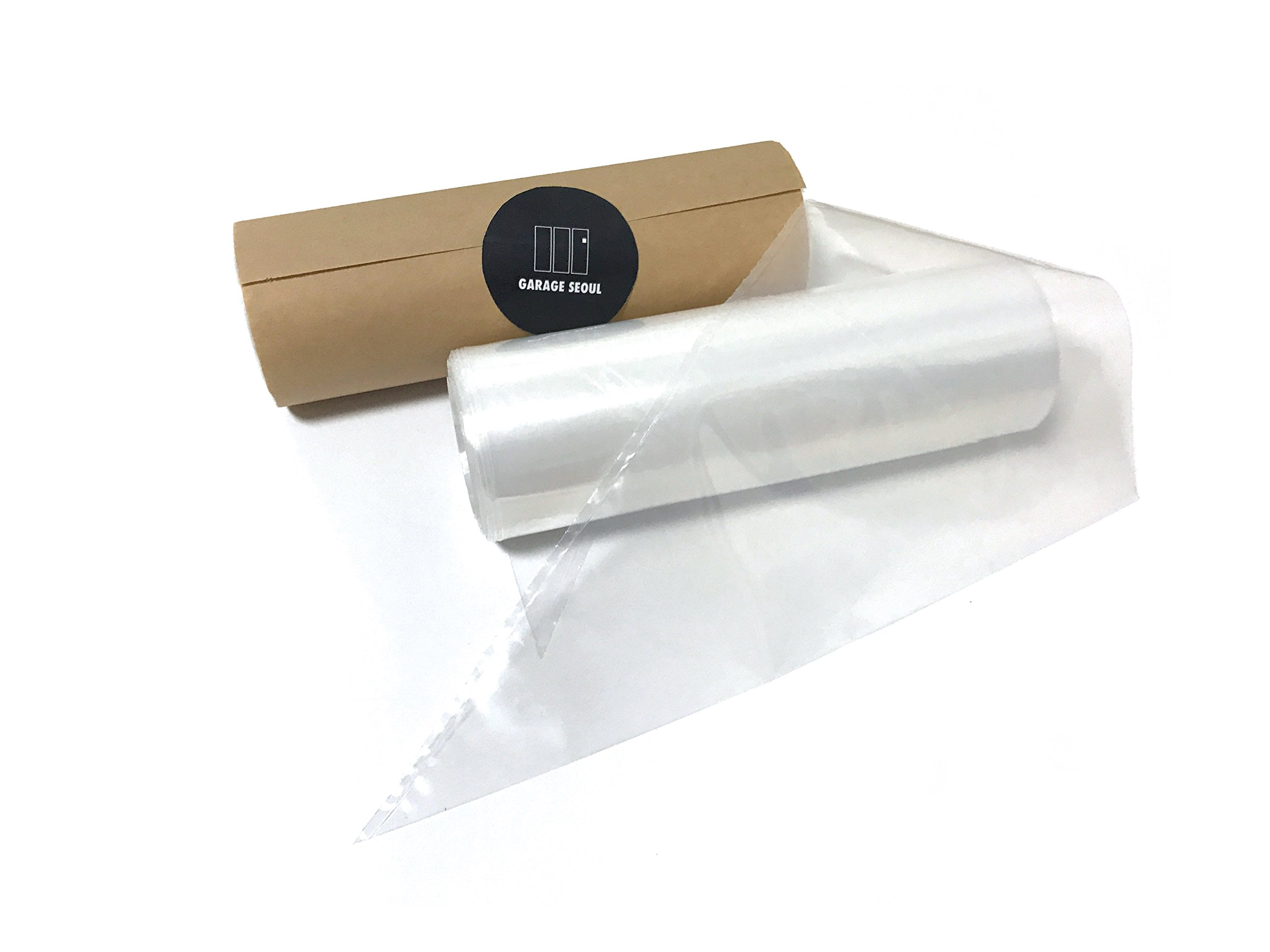 GarageSeoul Pastry Bag,Disposable Pastry Bag,Piping Bag,Icing Bag,14Inch,Roll of 100 Bags,Extra Thick,Cake/Cupcake Decorating Bag,Made in Korea (14Inch)