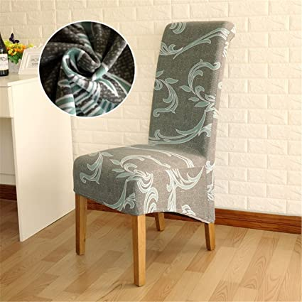 Amazon.com: 4/5/6 Pieces Long Back Chair Cover Printed Wedding Chair ...