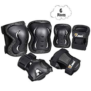 792734f40305c JBM Kids & Adults Knee and Elbow Pads with Wrist Guards Protective Gear  Set, Impact Resistance for your Children Outdoor Activities' Adventure,  Roller ...