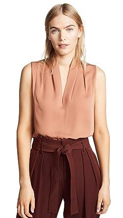 702144b4e1fc92 Amazon.com  Vince Women s Sleeveless Drape Neck Blouse  Clothing