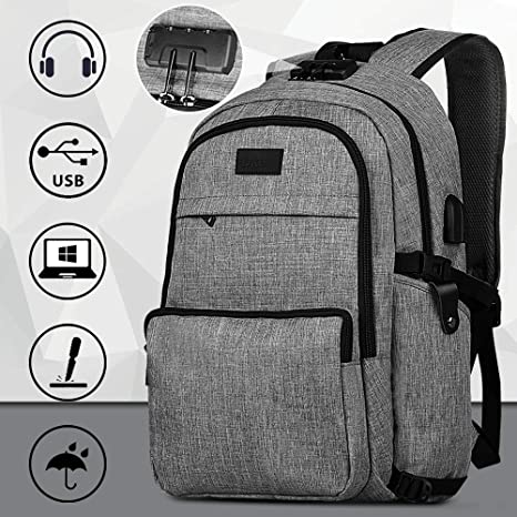 dee9bee4b5ba Backpack, 15.6 Laptop Backpack for Women Men School Backpack Travel Bookbag  Large Waterproof College Tech