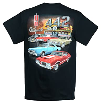 b6ed67a69 Image Unavailable. Image not available for. Color: Hot Rod Apparel Company Olds  442 - Cutlass T-Shirt ...