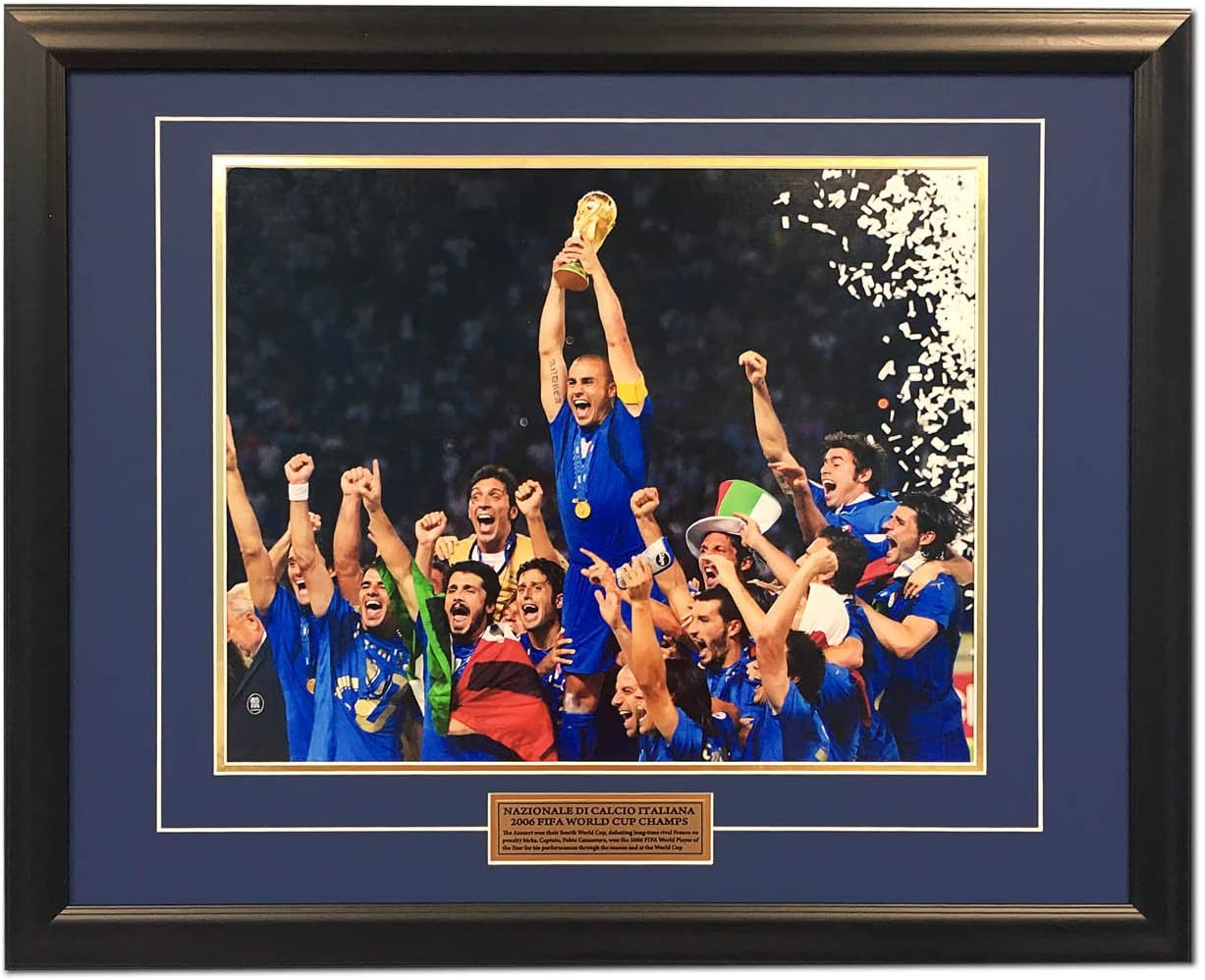 Italy Football 2006 FIFA World Cup Champions Soccer 25x31 Frame