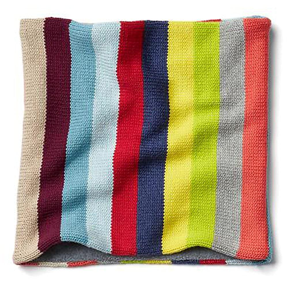 Gap Kids Girls Crazy Stripe Knit Fleece Neck Warmer