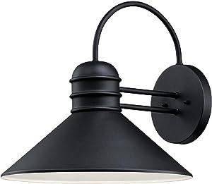 Westinghouse Lighting 6360800 Watts Creek One-Light, Textured Black Finish OUTDOOR WALL Fixture,