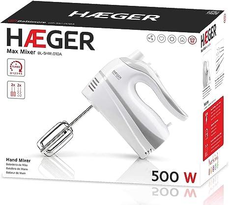 Haeger Spain - Batidora Amasadora Haeger Bl5Hw010A 500W, 5 Veloc: Amazon.es: Hogar