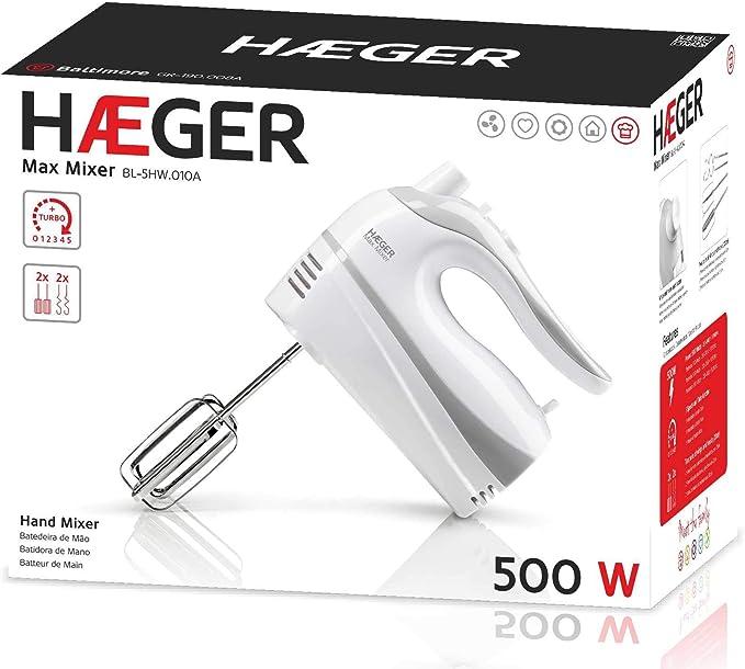 Haeger spain - Batidora amasadora haeger bl5hw010a 500w, 5 veloc ...