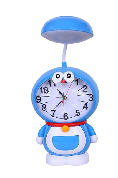 Table lamp Doremon with Clock for Kids (USB Rechargeable), Very Product, Bigger Size