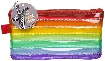 Estuche para lápices, plano, de plástico, transparente, con ...