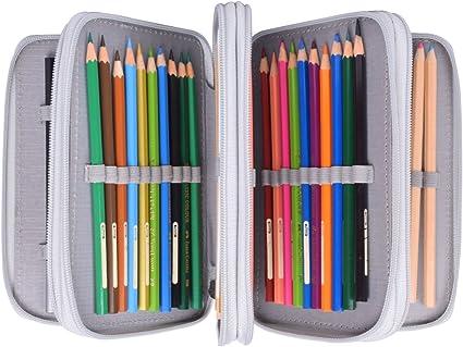 Newcomdigi Estuche Bolso Caja de Lapices Colores 72 Ranuras ...