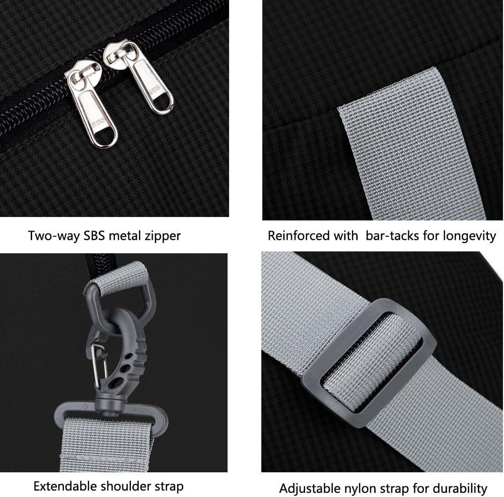 Portable Gym Bag Storage Luggage Bag Black