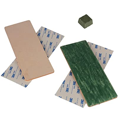 8x3 inch Leather Strop with Green White Buffing Polishing Compound (pack of 2): Home Improvement [5Bkhe0106012]
