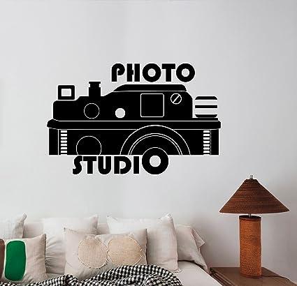 4635457bc Buy CVANU Photo Studio Logo Vinyl Sticker Window Decal Camera Art  Decorations for Business Room Office Salon Photo Studio Custom Wall Decor  Online at Low ...