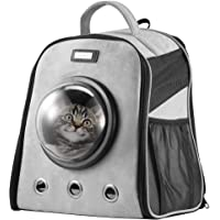 Petscene Dog Cat Crate Pet Carrier Cage Puppy Kitten Bubble Backpack Grey