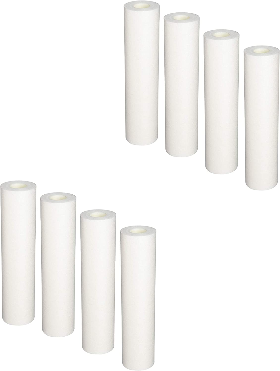 8-Pack Replacement PurePro G-107MR Polypropylene Sediment Filter - Universal 10-inch 5-Micron Cartridge for PurePro G-Series 7 Stage RO System by CFS