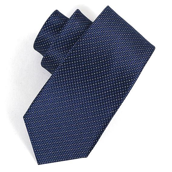 HXCMAN 8cm azul marino lunares tartán cuadros corbata diseño ...