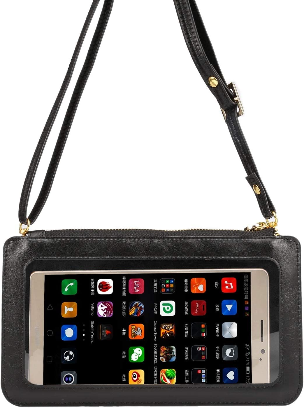 Phone Bag Touch Screen PU Leather Crossbody Bag, Universal Phone Wallet Pouch Shoulder bag for iPhone Xs Max XR X 8 7 Plus,Samsung Galaxy S8 S9 Plus Note 8, S10 Lite, s20+,s20 ultra,Note10+, Note 10