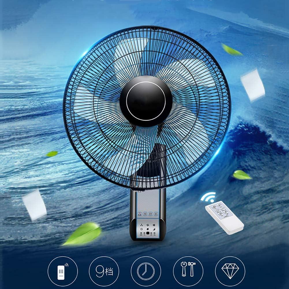 Los aficionados pared fan remotos de control, 3-velocidad de montaje en pared con una función de temporizador para el hogar, oficinas, dormitorios (16 pulgadas),Azul